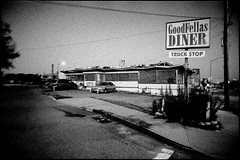 Boarded Up Diner, Maspeth Avenue, Queens (V-A-B) Tags: film analog kodakp3200 konicat3 quantaray24mm maspeth queens newyorkcity diner
