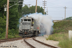NICD 1000 @ Michigan City, IN (Michael Polk) Tags: nictd chicago south shore bend railroad emd gp382 freight passenger ic highliner michigan city indiana