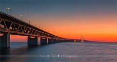 Oresund Bridge - Malmo - Sweden (~ Floydian ~ ) Tags: henkmeijer floydian photography sweden thebridge oresundbridge malmo evening dusk sunset twilight malmö swedish bluehour leefilters canon canon5dmarkiv