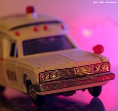 Toyota Crown Ambulance Front View (Retro Photo International) Tags: diapet diecast japan japanese ambulance 143 minolta 50mm 17 rokkorx