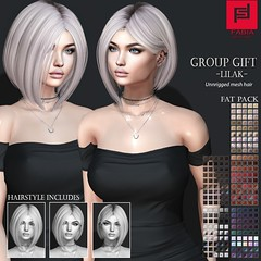 Group GIFT Lilak (FABIA.HAIR) Tags: free gift hair rigged moda woman beauty look piktures fabia nice meef head special sl secondlife sweet fashion hairstyle life lovely avatar spam style shopping new release best love everyday art