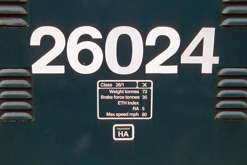 British Rail class 26 diesel locomotive 26024, Keighley