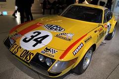 1973 Ferrari 365 GTB/4 'Daytona' sports racing car - Design Museum, Kensington, London W8. (edk7) Tags: olympusomdem5 edk7 2018 uk england london londonw8 royalboroughofkensingtonandchelsea kensington designmuseum 1973ferrari365gtb4daytona ferrari44litrev12450hp chassis16425 car automobile auto sportscar racingcar