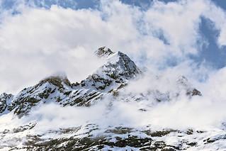 Alaskan Mountain in Cloud.