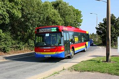 Rail Replacement at Marks Tey (Chris Baines) Tags: trustybusgalleon travel scania omnicity yn55 nne marks tey rail replacement for greater anglia