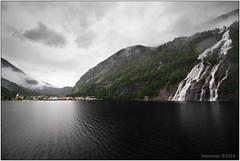 Fjords and waterfalls (seeneasy) Tags: norway norvegia forest foresta case villaggio village mare sea clouds nuvole seeneasy canon canon5dmarkii canonef1635f4lisusm natura nature estate summer osterfjord fiordi fiordo fjord mo waterfalls cascate