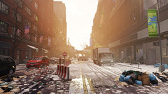 Save Manhattan (screenreel) Tags: thedivision graphics digitalart abandoned building cars street winter cold atmosphere lights sky snow smoke gaming city road dirt reflection destroyed fuel mess trees asphalt recyclebin epidemy day bright
