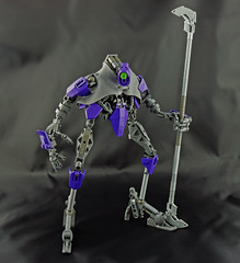 Ibrahim (Prhymus) Tags: bionicle primus robot shepherd grey ibrahim nonpurist black purple