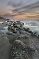 (Masako Metz) Tags: sunset beach ocean sea water rocks sky clouds nature landscape seascape sand oregon coast pacific northwest onabeach usa orange