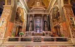 Escape to the city (snowyturner) Tags: genoa liguria interior church symmetry tiles fresco murals columns ornate gold