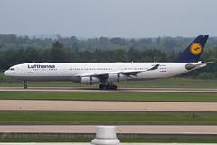D-AIFE A340-300 Lufthansa (JaffaPix +4 million views-thanks...) Tags: daife a340300 340 a340 a343 airbus lufthansa dlh lh iad kiad dulles washingtondulles aircraft airplane aeroplane aviation davejefferys jaffapix jaffapixcom