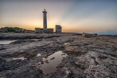 Faro Santa Croce Augusta (mcalma68) Tags: lighthouse santa croce faro augusta sicilia sunset seascape italy coastline rocky