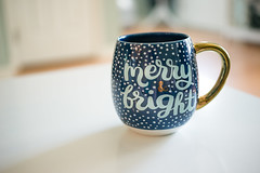 Merry & Bright (MegWec) Tags: christmas xmas winter blue gold merry bright airy light mug coffee cup holiday snow