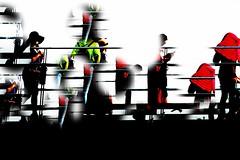 _ tourists on the bridge _ (christikren) Tags: austria christikren flickrfriday schweben bridge fun red hover colour lines panasonic europa smile tourist brücke black flickr tour happy abstract