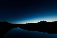 Triangle stars (kat-taka) Tags: star triangle mountain sky night blue shadow silhouette river water mirror magic