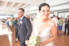 La sposa smorfiosa - The smirking bride. (sinetempore) Tags: sposi married sposoesposa groom bridegroom bride matrimonio marriage lasposasmorfiosa ritratto portrit portrait