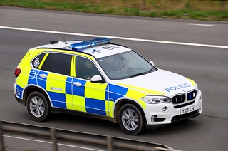 Traffic Police BMW X5 YX17 CJV 10th September 2018 High speed Blues & two's