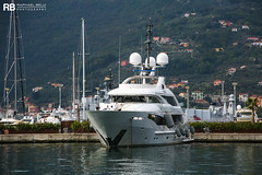 Saint - 50m - ISA (Raphaël Belly Photography) Tags: rb raphaël monaco raphael belly photographie photography yacht boat bateau superyacht my yachts ship ships vessel vessels sea motor mer m meters meter saint 50m 50 isa white blanc beige cream crème imo 9581980 mmsi 319972000