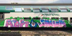 ADM INUS (StrangeSpotter) Tags: graffiti g graffitiart graffititrain graff traingraffiti train streetart street italy art