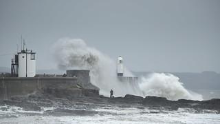 Porthcawl, Storm Helene 18-09-18