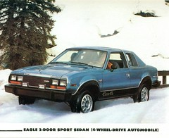 1980 AMC Eagle 2 Door Sedan (coconv) Tags: car cars vintage auto automobile vehicles vehicle autos photo photos photograph photographs automobiles antique picture pictures image images collectible old collectors classic ads ad advertisement postcard post card postcards advertising cards magazine flyer prestige brochure dealer 1980 amc eagle 2 door sedan american motors rambler 4x4 suv crossover 80 hornet concorde 4 wheel drive four all