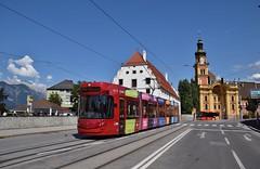IVB 302 Pastorstraße/Stubaitalbahnhof Innsbruck (eddespan (Edwin)) Tags: ivb innsbruck tirol oostenrijk austria östenreich tram streetcar strasenbahn strassenbahn tramway tramvaj trolley bombardier flexityoutlook cityrunner