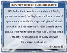 Browse Impurity Quran Topic on https://quranindex.info/search/impurity #Quran #Islam [33:33] (Quranindex.info) Tags: islam quran reciters surahs topics verses