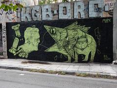 Green on Black (aestheticsofcrisis) Tags: street art urban intervention streetart urbanart guerillaart graffiti postgraffiti athens athen attiki athina greek greece europe eu exarcheia exarchia