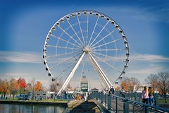 Montreal Old Port (stephaneblaisphoto) Tags: montreal quebec canada architecture street city urban ferriswheel ferris wheel amusement park river autumn