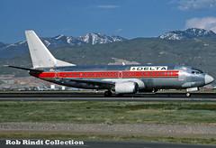 Delta Air Lines B737-347 N308WA (planepixbyrob) Tags: delta deltaairlines westernairlines boeing 737 737300 n308wa slc saltlakecity retro hybrid kodachrome