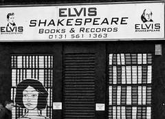 Elvis Shakespeare (@WineAlchemy1) Tags: bookstore record store elvis shakespeare edinburgh scotland blackwhite monochrome neroebianco noiretblanc shopfront street leithwalk vinyl