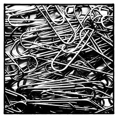 Paper Clips (Joseph Pearson Images) Tags: abstract paperclips square blackandwhite mono bw macro macrodreams