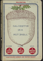 ''Galveston in a nutshell.'' (SMU Libraries Digital Collections) Tags: texas texan textreasures promotional literature acorn nut nutshell art illustration cover print pamphlet galveston history historic historical texana