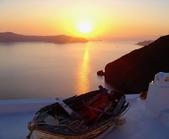 2007 Sunset, Santorini Greece (Seymour Lu) Tags: