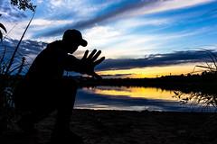 Silueth on the shore of a lake (VisitLakeland) Tags: finland kuopio lakeland summer auringonlasku evening ilta järvi kesä lake luonto maisema nature outdoor scenery silhuet siluetti sunsets water
