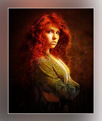 B (andrzejslupsk) Tags: b woman portrait andrzej słupsk slupsk face art red hair photomanipulation
