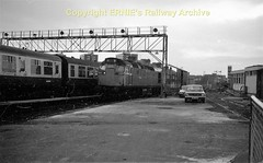 Ayr stationc carriage sdgs early 1980's 617 (Ernies Railway Archive) Tags: ayrstation gswr lms scotrail