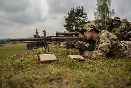 Sky Soldier Sniper Eyes Target