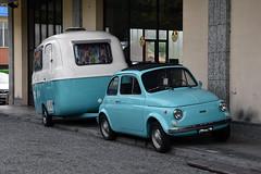 Fiat 500 R & Trailer (Maurizio Boi) Tags: fiat 500 trailer roulotte car auto voiture automobile coche old oldtimer classic vintage vecchio antique italy