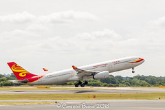 Hainan Airlines B-5905 A330-300 (IMG_9546) (Cameron Burns) Tags: hainanairlines hainan airlines hu b5905 airbus airbus330 airbus330300 airbus333 a330 a330300 a333 pek peking biejing china white red yellow manchester airport manchesterairport man egcc ringway viewing park airfield aviation aerospace airliner aeroplane aircraft airplane plane canoneos550d canoneos eos550d canon550d canon eos 550d uk united kingdom unitedkingdom gb greatbritain great britain europe action