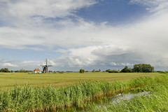 (Don Bello Photography) Tags: sommer 2018 holland windmühle windmill himmel wolken himmelsbilder sky clouds schilfgras weite wetterwolken acdsee panasonicfz1000 lumixfz1000 donbellophotography reinhardbellmann niederlande netherlands
