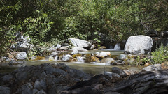 Small Creek in Angeles Forest (getsomejelly) Tags: angeles national forest telegraph peak hike daytime long exposure water rocks 169 wide screen widescreen mount baldy mt