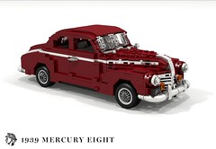 Mercury Eight Club Coupe (1939) (lego911) Tags: mercury for motor company eight 8 1939 1930s classic vintage v8 club coupe usa america auto car moc model miniland lego lego911 ldd render cad povray chrome flathead foitsop ford