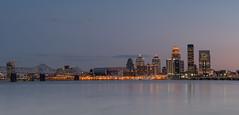 Sunset over Louisville - Kentucky (nicklaborde) Tags: 500px sunset scy g7 ky panoramic bridge river lumix water panasonic city kentucky long exposure skyline louisville lumixg7 longexposure
