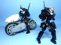 Black Ice Team Six Ver 2.0 (icycruel) Tags: black ice team six lego moc bike hardsuit sci fi military akira shot