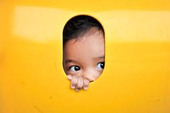 Tasnim (afiskandar) Tags: child portrait yellow naturallighting malaysia nikond3 nikkor35mmf2d prime lens playground portraiture cute