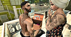 Wait, what?! (lysszelin) Tags: babygirl roleplay excited happy shocked pregnancy surprise demoness demon baby mom dad parents firestorm secondlife