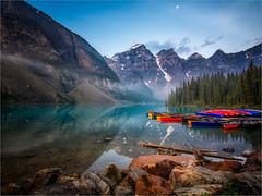 Moraine Lake (Roger Nolan LRPS) Tags: alberta canada morainelake reflection water