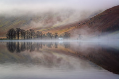 char hut textured reflections (akh1981) Tags: amateurphotography beautiful buttermere cumbria calm countryside reflections fells fog nisi nikon nature nationalpark nisifilters nationalheritage nationaltrust manfrotto mountains mist morning wideangle walking water outdoors travel trees tranquil uk unesco