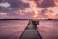 Pink Sunset (Jared Beaney) Tags: canon6d canon australia australian photography photographer travel rottnest rotto island islands westernaustralia sunset geordiebay boardwalk jetty ocean bay cove landscapes landscape